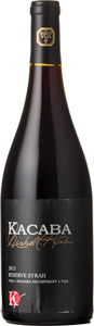 Kacaba Signature Series Reserve Syrah 2015, VQA Niagara Escarpment Bottle