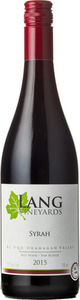 Lang Vineyards Syrah 2013, BC VQA Okanagan Valley Bottle