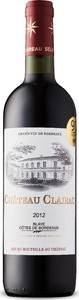 Château Clairac 2012, Ac Côtes De Bordeaux Blaye Bottle