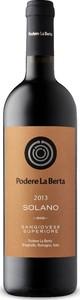 Podere La Berta Solano Sangiovese Superiore 2013, Doc Romagna Bottle