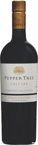 Peppertree Calcare Single Vineyard Cabernet Sauvignon 2013, Coonawarra, South Australia Bottle