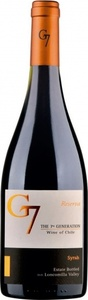 G7 Reserva Syrah 2015, Loncomilla Valley, Maule Valley Bottle
