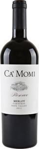 Ca' Momi Reserve Merlot 2013 Bottle