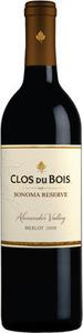 Clos Du Bois Sonoma Reserve Merlot 2014, Alexander Valley Bottle