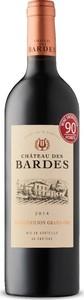 Château Des Bardes 2014, Ac Saint émilion Grand Cru Bottle