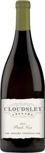 Cloudsley Cellars Pinot Noir 2014, Niagara Peninsula Bottle