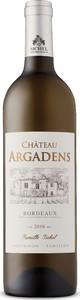 Château D'argadens Blanc 2016, Ac Bordeaux Bottle