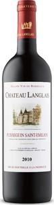Château Langlais 2010, Ac Puisseguin Saint émilion Bottle