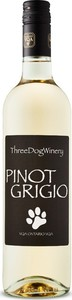 Three Dog Winery Dog House Pinot Grigio 2016 Bottle