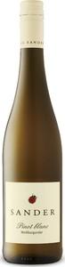 Sander Pinot Blanc Trocken 2016, Qualitätswein Bottle