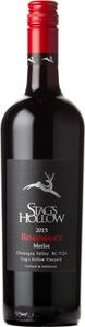 Stag's Hollow Renaissance Merlot Stag's Hollow Vineyard 2015, Okanagan Valley Bottle