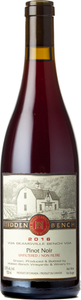 Hidden Bench Estate Pinot Noir 2016, VQA Beamsville Bench Bottle