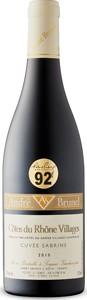 Cuvée Sabrine Côtes Du Rhône Villages 2015, Ac Bottle