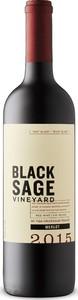 Black Sage Vineyard Merlot 2015, BC VQA Okanagan Valley Bottle