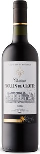 Château Moulin De Clotte 2010, Ac Côtes De Castillon Bottle