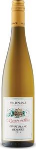 Baron De Hoen Réserve Pinot Blanc 2016, Ac Alsace Bottle