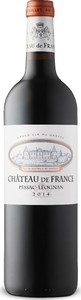 Château De France 2014, Ac Pessac Léognan Bottle
