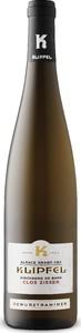 Klipfel Clos Zisser Kirchberg De Barr Grand Cru Gewurztraminer 2010, Ac Alsace Grand Cru Bottle