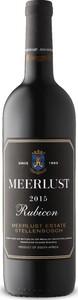 Meerlust Rubicon 2015, Wo Stellenbosch Bottle