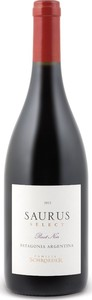 Familia Schroeder Saurus Select Pinot Noir 2017, Patagonia Bottle