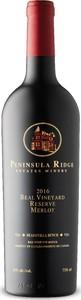 Peninsula Ridge Beal Vineyard Reserve Merlot 2016, VQA Beamsville Bench, Niagara Escarpment Bottle