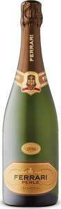 Ferrari Perlé Brut 2010, Traditional Method, Doc Trentino, Italy Bottle