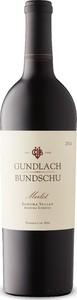 Gundlach Bundschu Merlot 2014, Sonoma Valley, Sonoma County Bottle