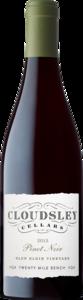 Cloudsley Cellars Glen Elgin Vineyard Pinot Noir 2016, Twenty Mile Bench Bottle