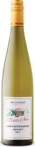 Baron De Hoen Réserve Gewurztraminer 2017, Ac Alsace Bottle