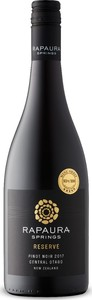 Rapaura Springs Reserve Pinot Noir 2017, Central Otago, South Island Bottle