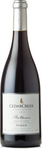 CedarCreek Platinum Syrah 2017, Okanagan Valley Bottle