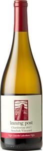 Leaning Post Chardonnay Senchuk Vineyard 2017, Lincoln Lakeshore Bottle