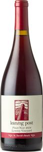 Leaning Post Pinot Noir Lowrey Vineyard 2016, St. David's Bench Bottle