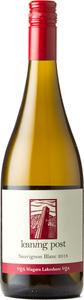 Leaning Post Sauvignon Blanc 2018, Niagara Lakeshore Bottle