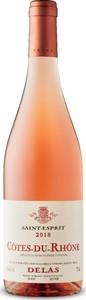 Delas Frères Saint Esprit Côtes Du Rhône Rosé 2018, Ac Bottle