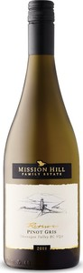 Mission Hill Reserve Pinot Gris 2018, BC VQA Okanagan Valley Bottle