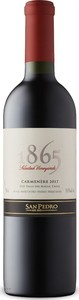 San Pedro 1865 Selected Vineyards Carmenère 2017, Do Maule Valley Bottle