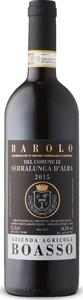 Boasso Barolo Del Comune Di Serralunga D'alba 2015, Docg Bottle