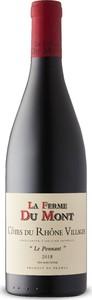 La Ferme Du Mont Le Ponnant Côtes Du Rhône Villages 2018, Unfiltered, Ap Rhône Bottle