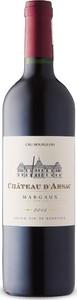Château D'arsac 2015, Ac Margaux, Bordeaux Bottle