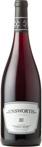 Unsworth Pinot Noir 2018, BC VQA Vancouver Island Bottle