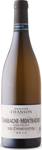 Domaine Chanson Les Chenevottes Chassagne Montrachet 1er Cru 2014, Ac Burgundy Bottle