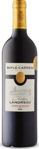 Bayle Carreau Château Landreau 2016, Ac Côtes De Bourg Bottle