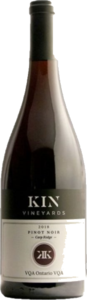 Kin Vineyards Pinot Noir Carp Ridge 2019, VQA Ontario Bottle