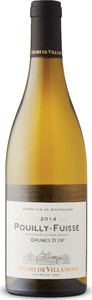 Henri De Villamont Grumes D'or Pouilly Fuissé 2014, Ac Bottle