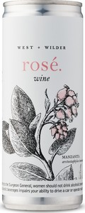 West + Wilder Rosé, Three Pack Can, California Bottle