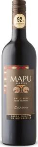 Mapu Reserva Carmenère 2019, Do Maule Valley Bottle