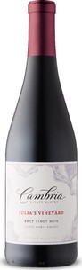 Cambria Julia's Vineyard Pinot Noir 2017, Santa Maria Valley Bottle