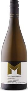 Meyer Family Vineyards Stevens Block Chardonnay 2019, Old Main Road Vineyard, Naramata Bench, BC VQA Okanagan Valley Bottle