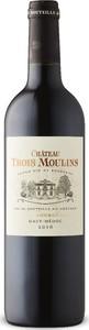 Château Trois Moulins Cru Bourgeois 2016, Ac Haut Médoc Bottle